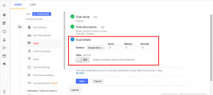 fig2.1-Google Analytics Goals And Funnels: duration-goal-5mins-or-more