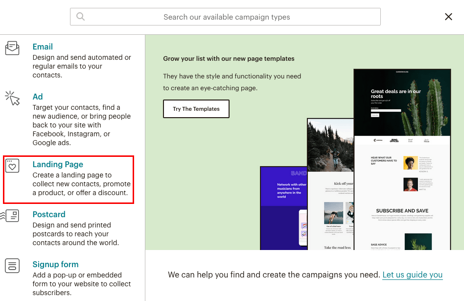 fig 2.0 - Landing page