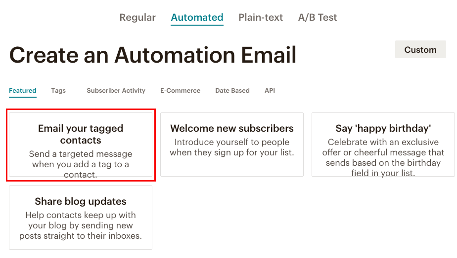 fig 4.2 - MailChimp Automation Email