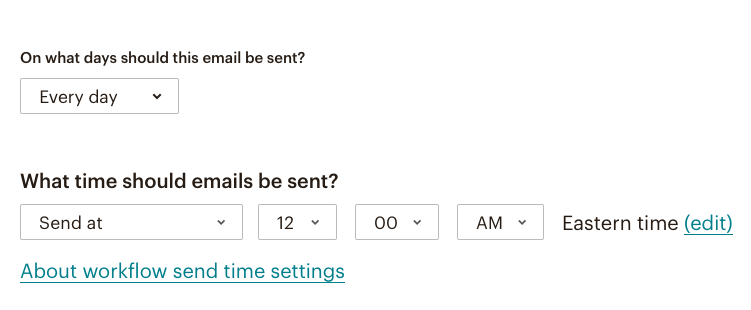 fig 4.5 - MailChimp Automation Email Workflows