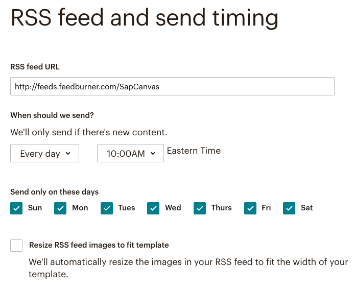 fig 5.1 - RSS feed and send timing