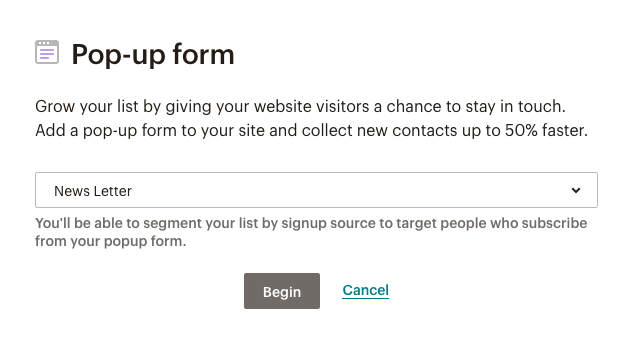 fig 3.6 - Display of Popup form