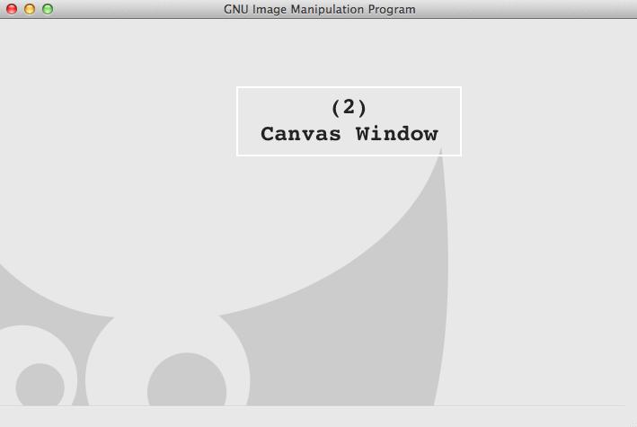 fig 2.1 - GIMP Interface: Canvas Window (Default Theme)