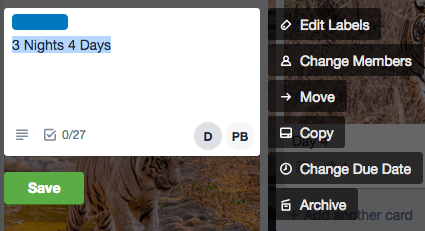 fig 1.3 - Trello for Project Management: Labels