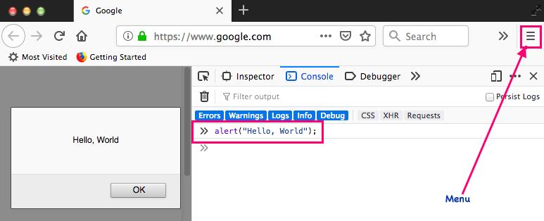 1 - Javascript Basics: Firefox Browser Console