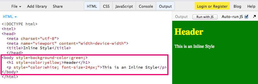 Inline Style