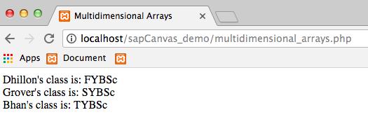 8.2 - Output Multidimensional Arrays