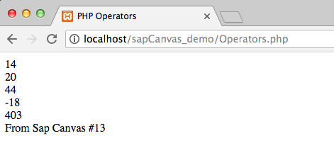 17.2 - Output PHP Operators