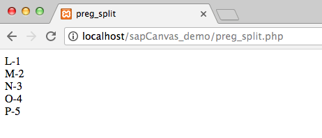 20.2 - Output preg_split () regex