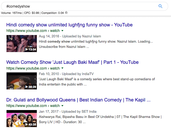 4 - collection of videos for #comedyshow