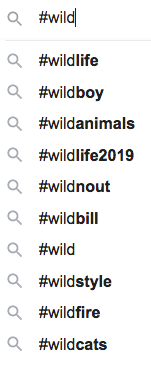 11 - Content hashtags (#wild)